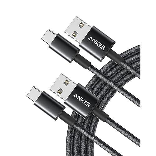 【2本セット】Anker 高耐久ナイロン USB-C & USB-A 2.0 ケーブル (1.8m × 2)