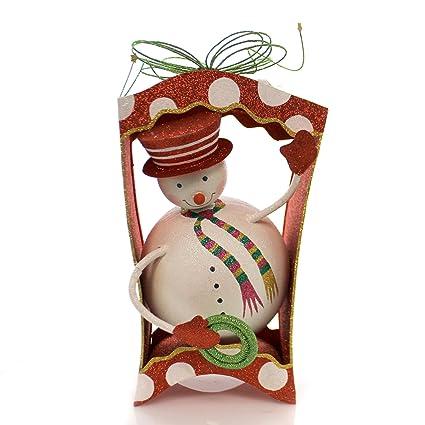Amazon Com Christmas Snowman Gift Box Metal Plastic 68799 Home
