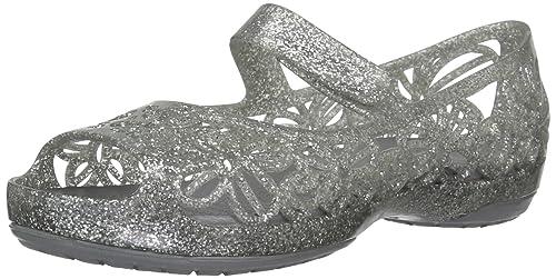 05d5d88b7716 Crocs Girl s Isabella Glitter Flat Pre-School Ballet Flats  Amazon ...