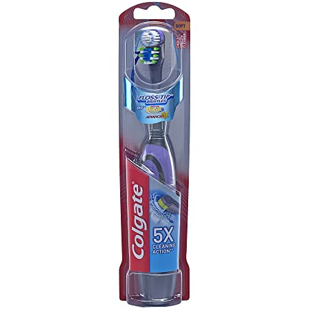 Colgate 360 Total Advanced Floss-Tip Battery Toothbrush, Soft by Colgate: Amazon.es: Belleza