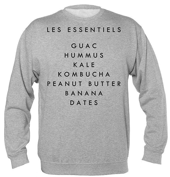 Les Essentiels Guac Hummus Kale Kombucha Peanut Butter Banana Dates Sudadera Unisex: Amazon.es: Ropa y accesorios
