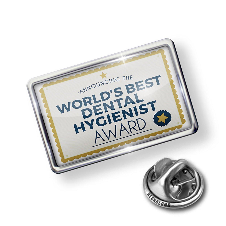 Amazon Neonblond Pin Worlds Best Dental Hygienist Certificate