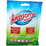 Amazon Price History for:Awesome Wipes Disinfecting Screen Cleaning Wipes for Electronics - Anti-Static, Streak-Free, Lint-Free, 20 Pre-Moistened Wipes in Resealable Pouch