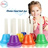 Ehome Hand Bells Set, 8 Note Diatonic Metal Bells, Musial Bells for Kids, Children and Toddlers, Musical Learning at an Early Age, Musical Toy Percussion Instrument, Musical Gifts for Kids