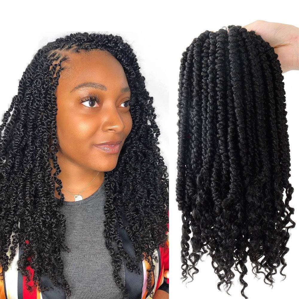 Amazon.com : 12 inch Senegalese Spring Twist Crochet Hair Black 3 ...