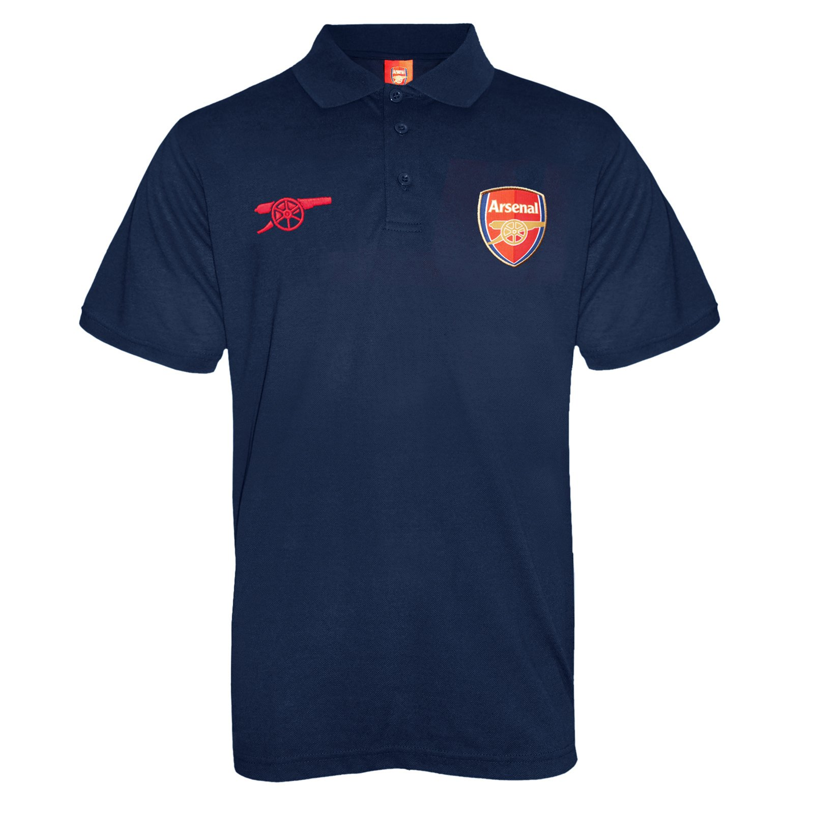 Arsenal Football Club Official Soccer Gift Mens Crest Polo Shirt Navy Blue Med