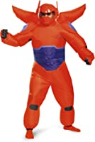 Disguise Men's Red Baymax Inflatable Adult Costume