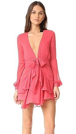 e7205fb46df3 Amazon.com: For Love & Lemons Women's Tarta Long Sleeve Mini Dress ...