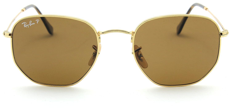 0969ebd9df229 Ray-Ban RB3548N Hexagonal Flat Lenses Polarized Sunglasses 001 57-54   Amazon.co.uk  Clothing