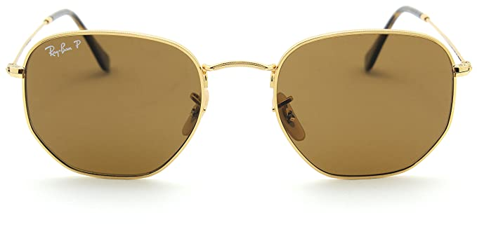 7cb21e152e Ray-Ban RB3548N Hexagonal Flat Lenses Polarized Sunglasses 001 57-54  Amazon .co.uk  Clothing