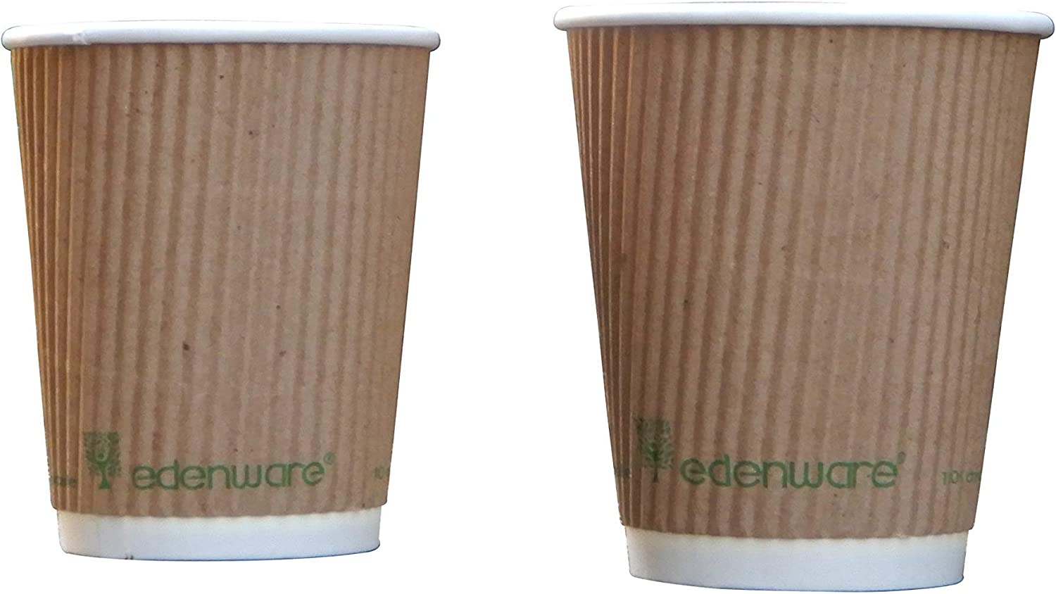 EDENWARE 12oz Single Wall Coffee paper Cup(White) (PLA Lined