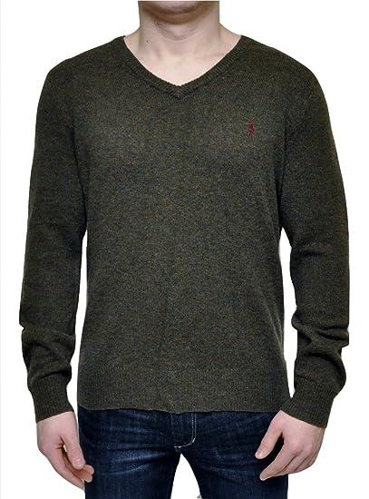 Men's Clothing Polo Ralph Lauren Slim Fit Pima Cotton Green V Neck Jumper Cardigan Sweater M Fancy Colours Clothing, Shoes & Accessories