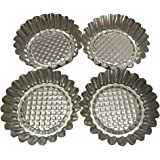 "Set of 20, MYStar 3-3/4"" Fluted Design Round Shape Non-stick Aluminum Tart Mold, Mini Pie Tin, Tartlet Pan"