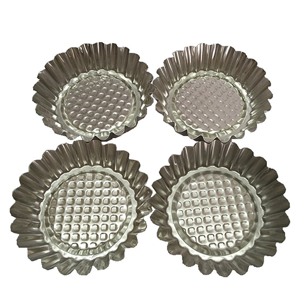 Set of 20, MYStar 3-3/4'' Fluted Design Round Shape Non-stick Aluminum Tart Mold, Mini Pie Tin, Tartlet Pan