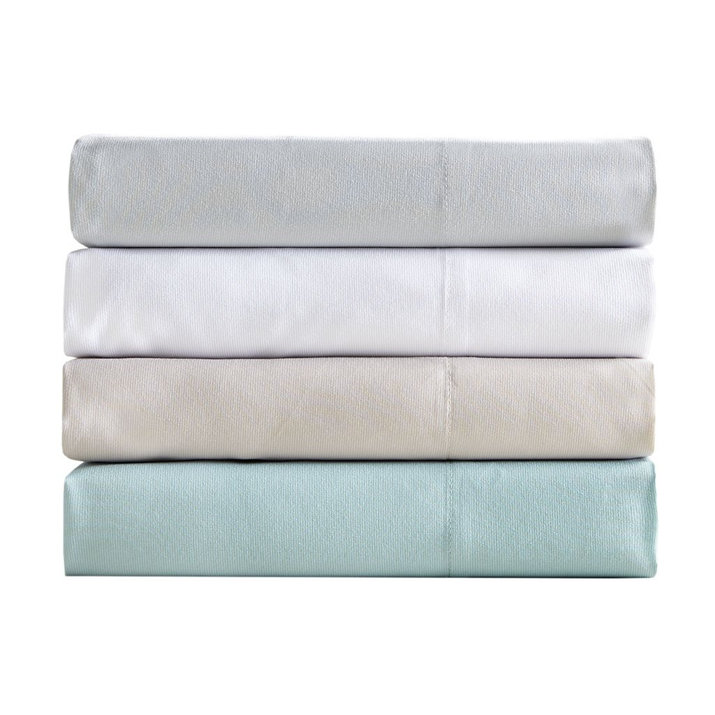 Queen Size Aqua 4 Piece SHET20-1169 Sleep Philosophy Copper Touch Copper Infused/Anti-Bacterial Odor Reducing Wrinkle and Fade Resistant Hypollergenic Sheet Set Bedding