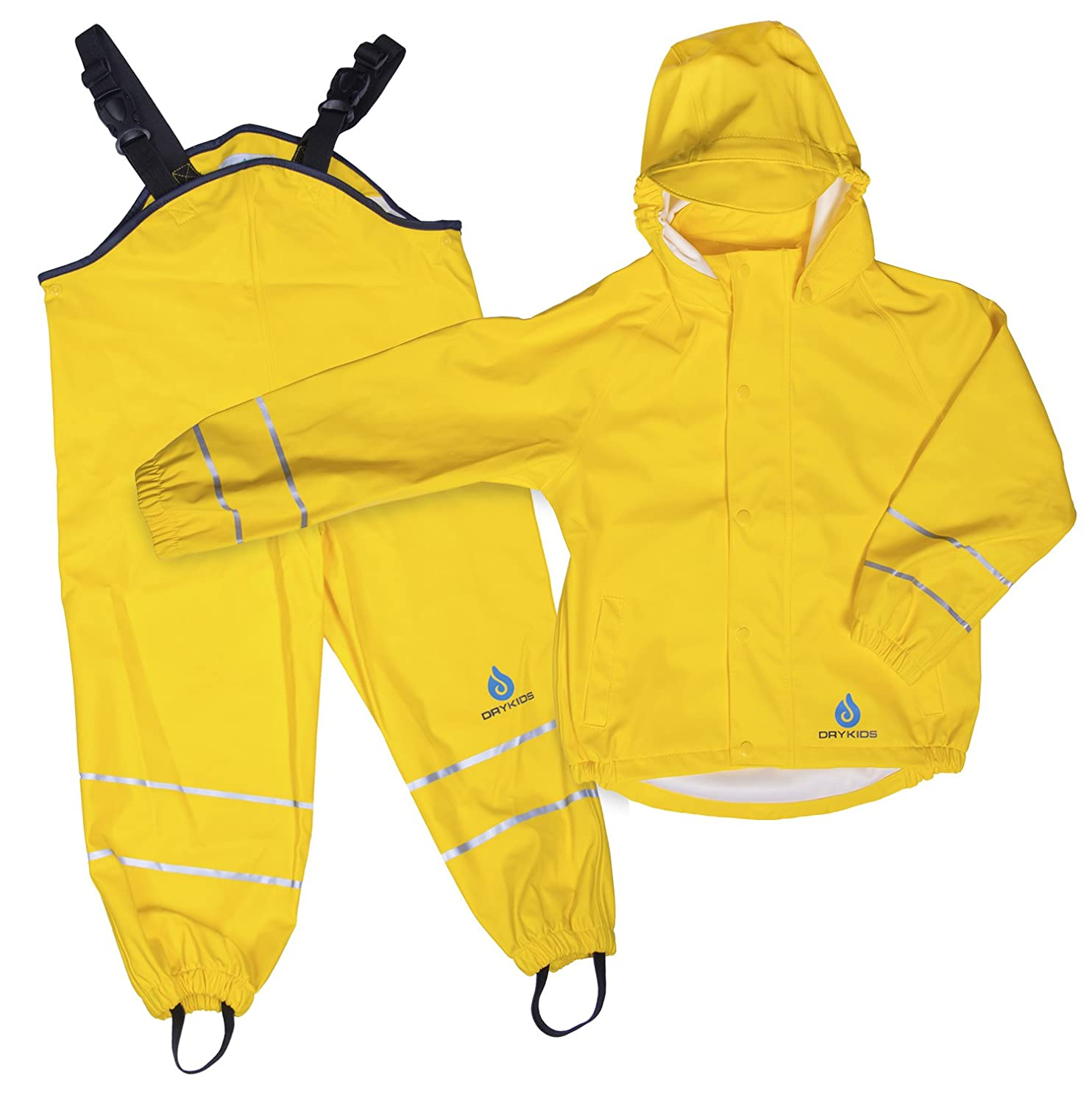 6207685f8233 DRY KIDS Childrens Waterproof Jacket and Dungarees Set PU Coated ...