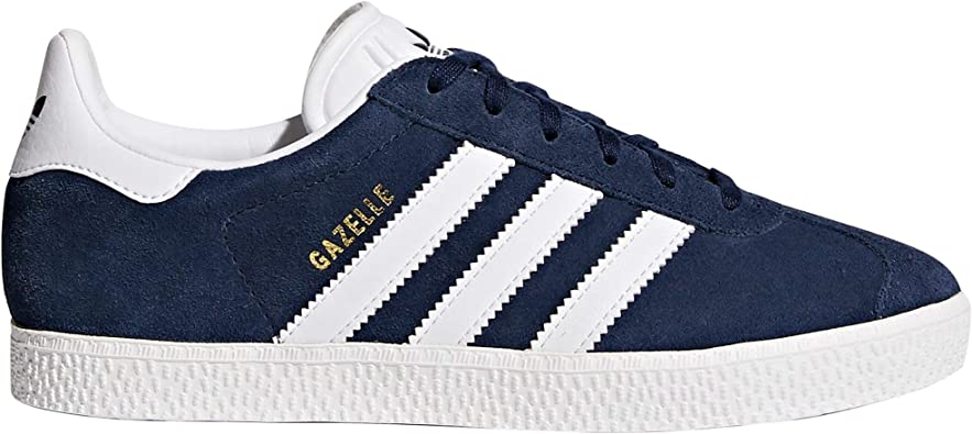 Adidas Gazelle Chaussures Baskets Femme Noir, Bleu, Rose. Sneaker. Low Top. (38 23 EU, NavyFTWR White)