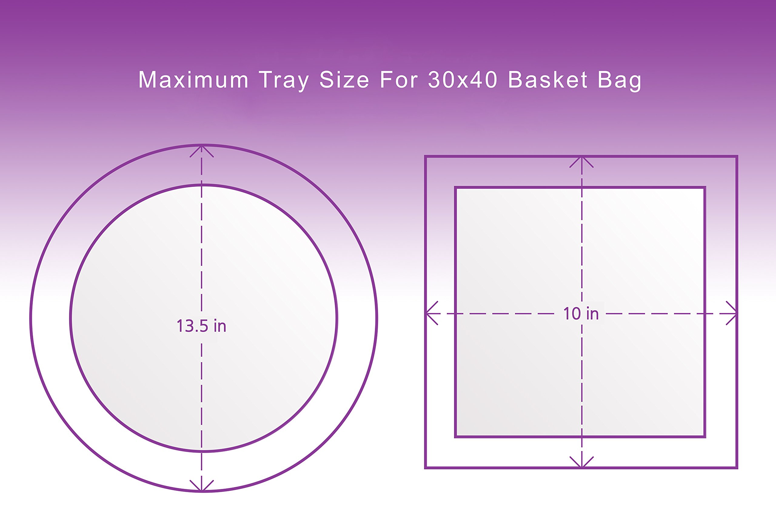 Clear Basket Bags 10 Pack, Extra Large Cellophane Wrap for Baskets 30''x 40''