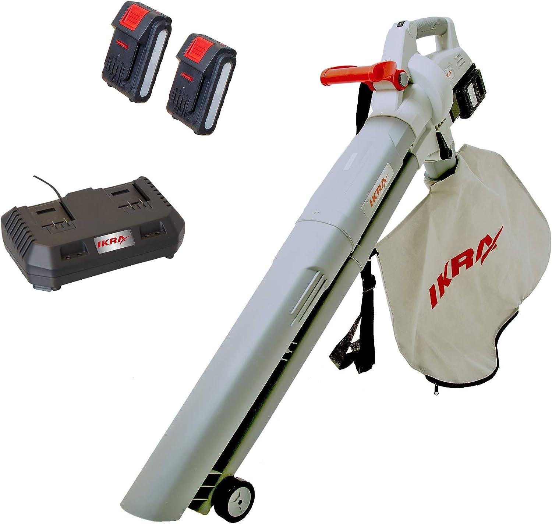 IKRA 74003200 Soplador de hojas con batería, Gris y rojo