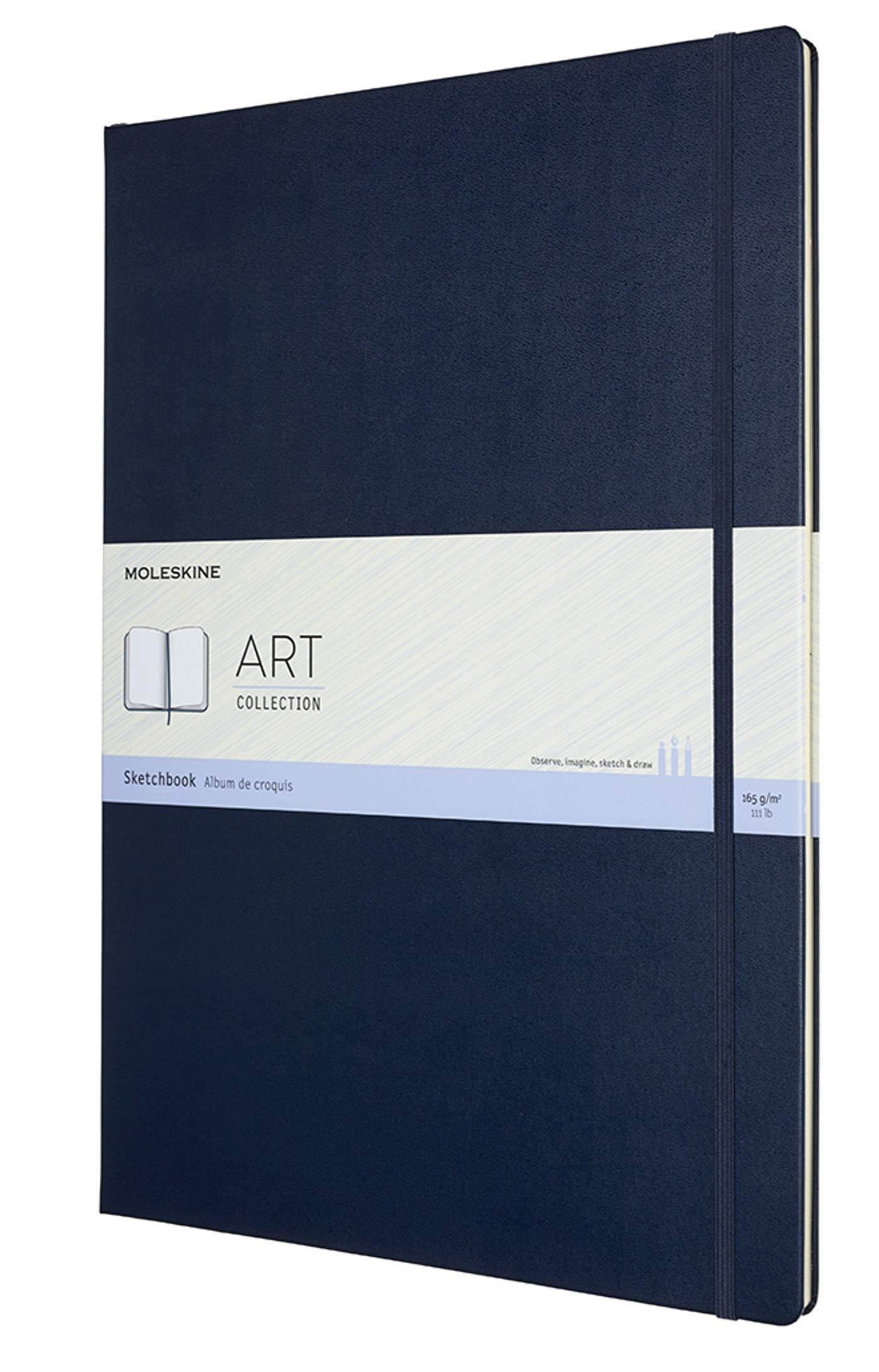 Moleskine Art Sketchbook, Hard Cover, A3 (11.75'' x 16.5'') Plain/Blank, Sapphire Blue by Moleskine