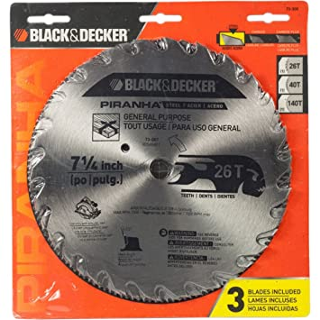 Black decker piranha steel circular saw blade 7 14 amazon black decker piranha steel circular saw blade 7 greentooth Choice Image