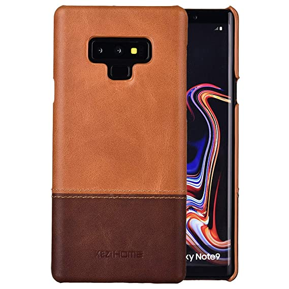 brand new 00141 92d38 Galaxy Note 9 Case,Vintage Genuine Leather Back Cover for Samsung Galaxy  Note 9 (Khaki)