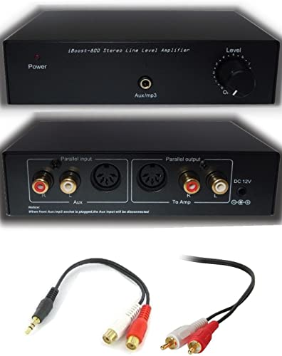 iBoost 800 Stereo Line Level Audio Amplifier Booster Amp for MP3, iPod, iPad, iPhone