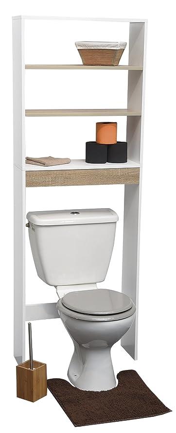 EVIDECO 9904309 Montreal 23.6u0026quot;x66.5u0026quot; Free Standing Over The Toilet  ...