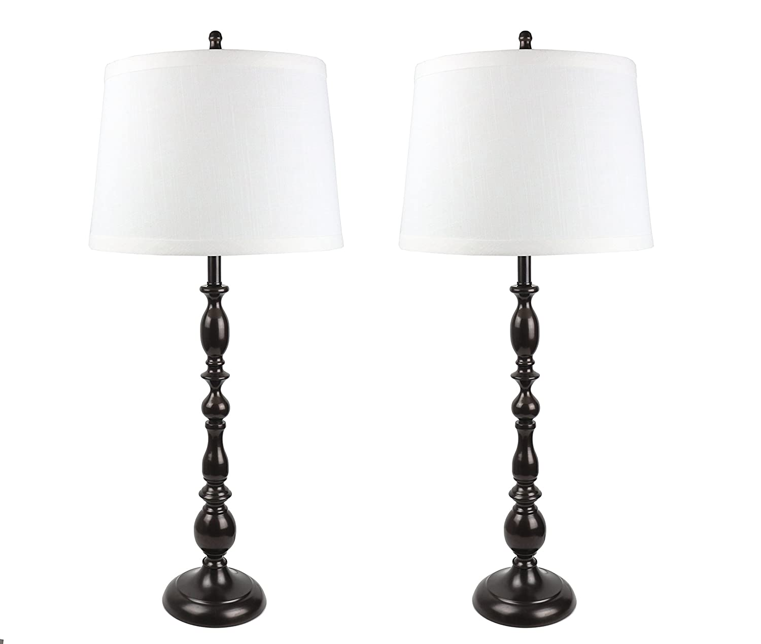 Urbanest Parker Set Of 2 Oil Rubbed Bronze Table Lamps With Off