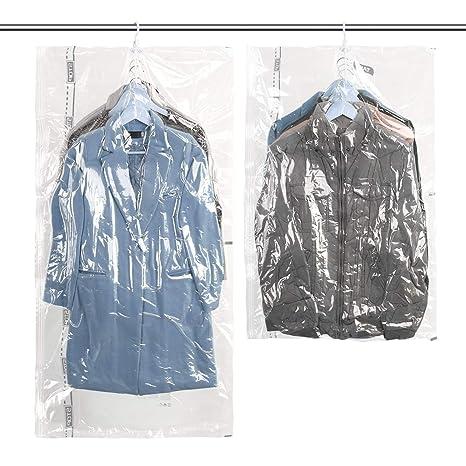 TAILI Cuelgan Bolsas de Almacenaje al Vacío Reutilizable 2 Piezas (1*Extra Largo 135x70cm + 1*Largo 105x70cm) para Guardar Ropa, Ropa de Cama, ...