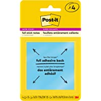 Post-it Super Sticky Full Adhesive Notes, 3 x 3-Inches, Assorted Ultra Colors, 4-Pads/Pack