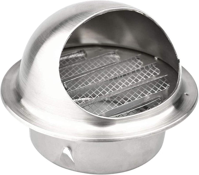 LTLWSH Redonda Rejilla de Ventilaci/ón Acero Inoxidable Rejilla de Ventilaci/ón con Pantalla de Insecto Salida de Aire para Todos los Sistemas de ventilaci/ón de ventilaci/ón de Pared,60mm