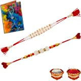 Dreamcart Unique Multi-Colour Dora Combo Of 2 Rakhi With Rakhi Gift Greeting Card Roli Chawal For Men/Boys