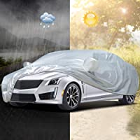 Audew Autoabdeckung Autoabdeckplane Vollgarage Auto Garage Autoplane Wasserdichte Ganzgarage (Drei Größe zu wählen)