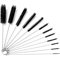 Bottle Brushes for Cleaning Small Pipe Cleaner Brush Small Brush for Cleaning,Reusable Straw Cleaner Brush,Black