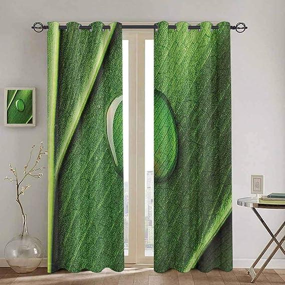 Cortinas para puertas correderas de uvas para decoración del hogar, para sala de estar, rama de hiedra curvada, cortina de cocina con diseño de semillas de vinos de madera, color verde y