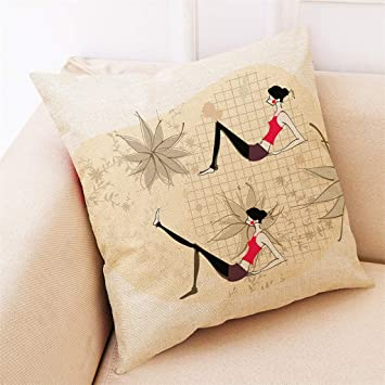 Amazon.com: Lywey 2019 Fashion Home Decor Cushion Cover Yoga ...