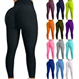 Mintuse Women's Bubble Hip Butt Lifting Leggings High Waist Yoga Pants Sports Running Hip Lifting Fitness Leggings