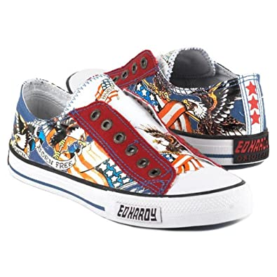 07e2c1669 Amazon.com | Ed Hardy Amerikana Lowrise Sneaker for Women - Navy ...