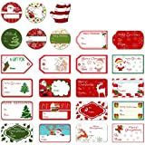 Tinksky Christmas Self Adhesive Gift Tag Stickers Santa Snowmen Xmas Tree Deer Christmas Festival Birthday Wedding Holiday De