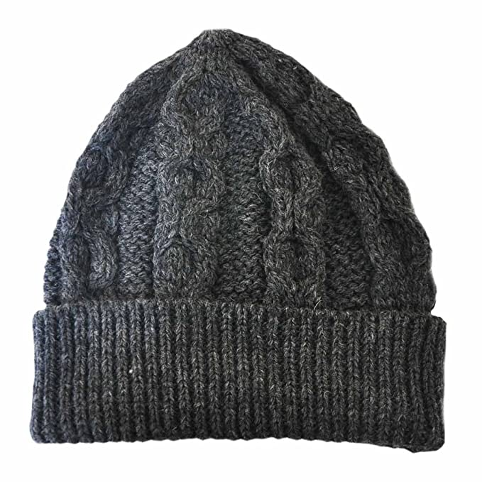 797343e95 Aran Crafts Merino Wool Knit Hat, Charcoal