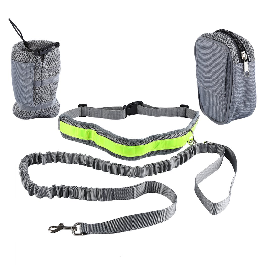 FUNOC Dog Walking Set Dog Harness Cup pocket Bag Waist Belt Classic Harness for Dogs