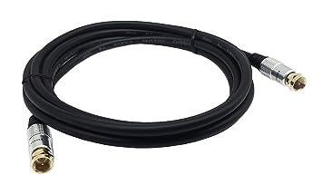 cerrxian Cable de conexión 3 m 10 ft TV coaxial Tipo F Macho a Macho Conector