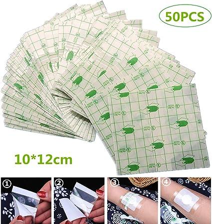 50pcs adhesiva transparente resistente al agua, la herida médica ...