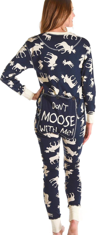 LazyOne Men Classic Moose Blue Flapjack Onesie Adulte