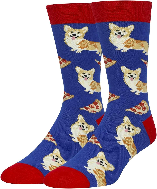 HAPPYPOP Men's Cat Chicken Flamingo Corgi Socks Funny Novelty Gift for Boys