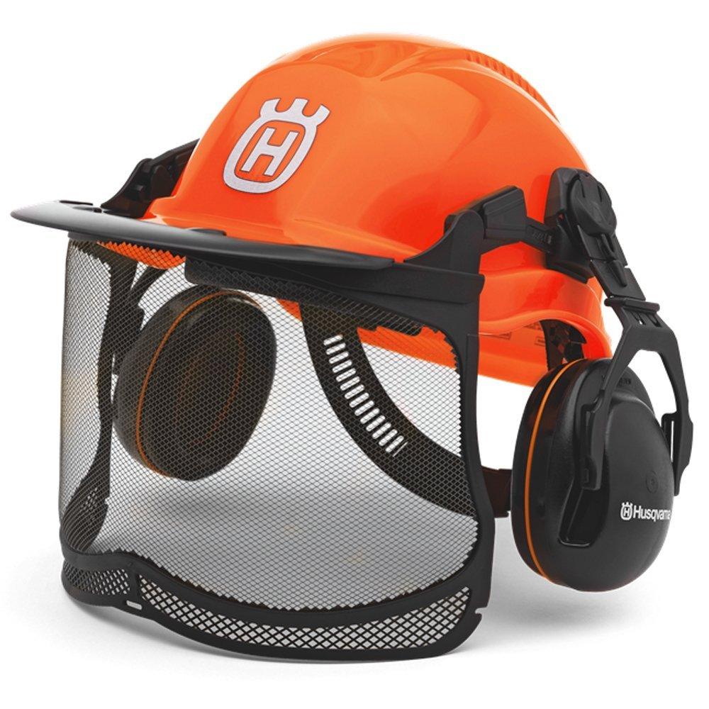 Husqvarna 577764601 Pro Forest Helmet System with Visor/Hearing Protection by Husqvarna