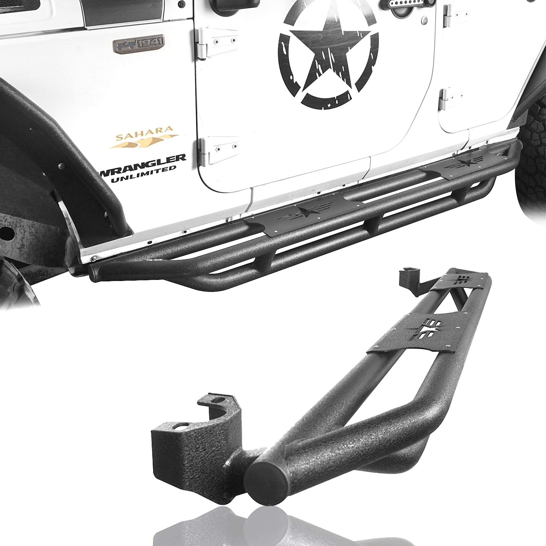 Side Step Nerf Bars Pads for 2007-2018 Jeep Wrangler JK /& Unlimited 4 Door Pair
