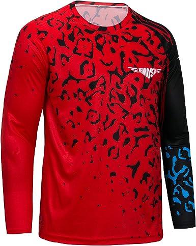 Men/'s Cycling Long Sleeve Jersey Top T-Shirt MTB Bicycle Clothing Sport Cloth