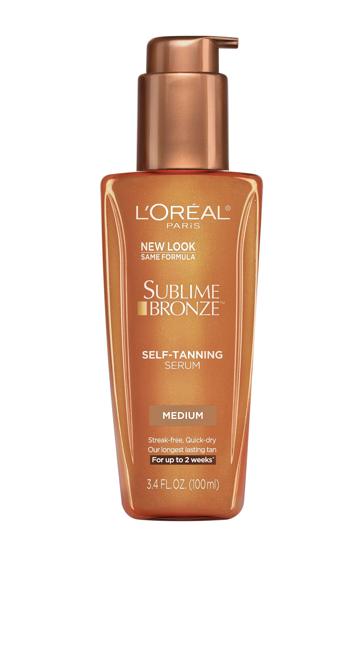 L'Oreal Paris Sublime Bronze Self-Tanning Serum, Medium Natural Tan, 3.4 fl. oz.